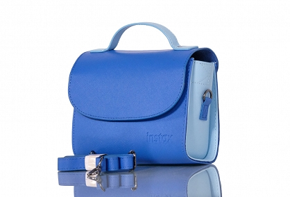 camera bag instax mini - cobalt blue